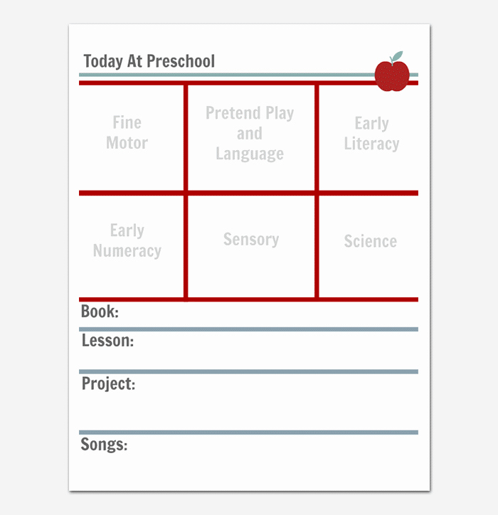Preschool Lesson Plan Template Word Awesome Preschool Lesson Plan Template Daily Weekly Monthly