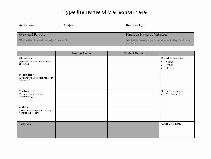 Preschool Lesson Plan Template Word Beautiful Lesson Plan format Fotolip