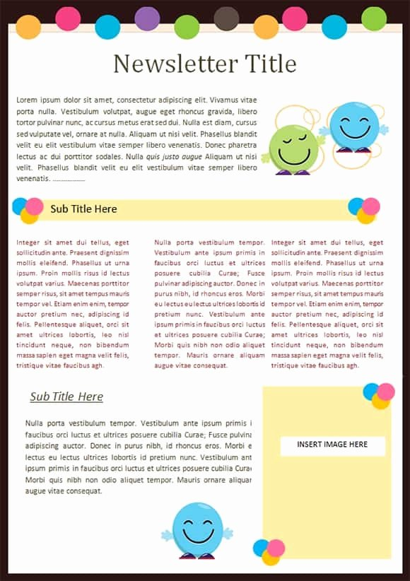 Preschool Newsletter Templates Free Awesome Sample Templates Free formats Excel Word