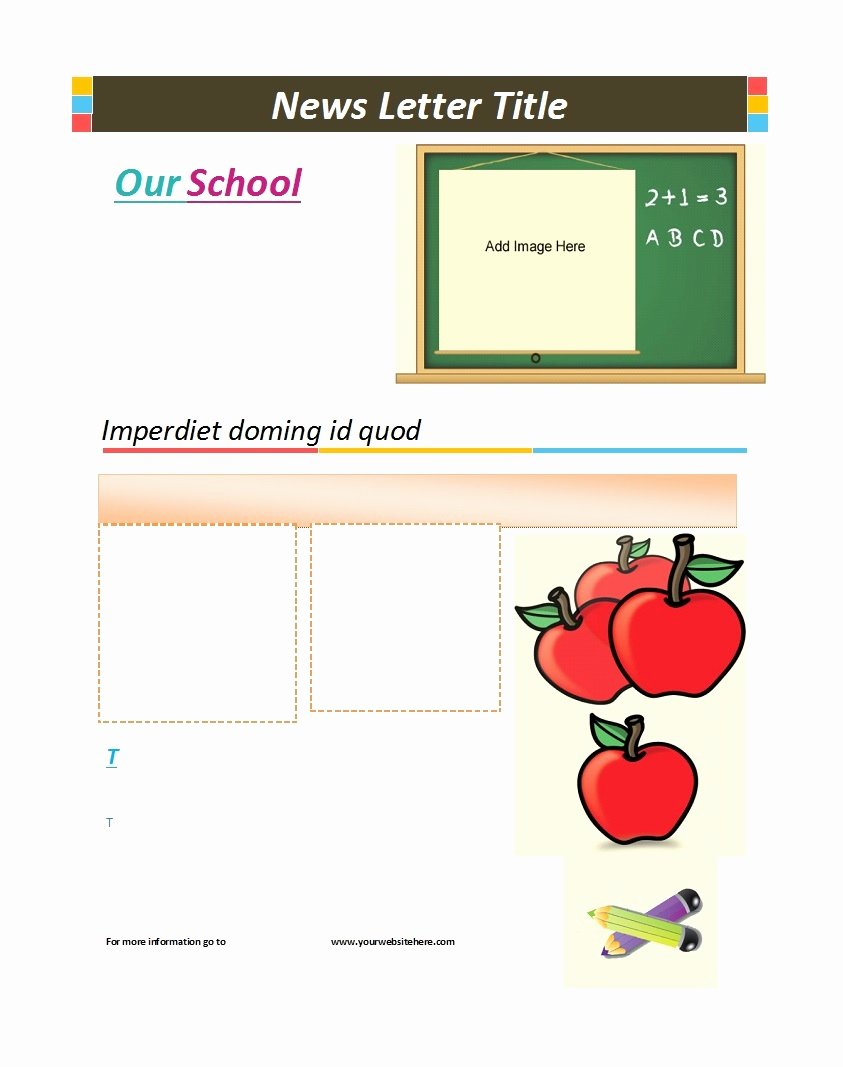 Preschool Newsletter Templates Free Beautiful 50 Creative Preschool Newsletter Templates Tips