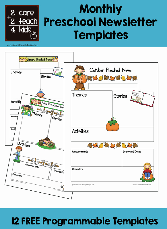 Preschool Newsletter Templates Free Elegant Preschool Newsletters Free Printable Templates
