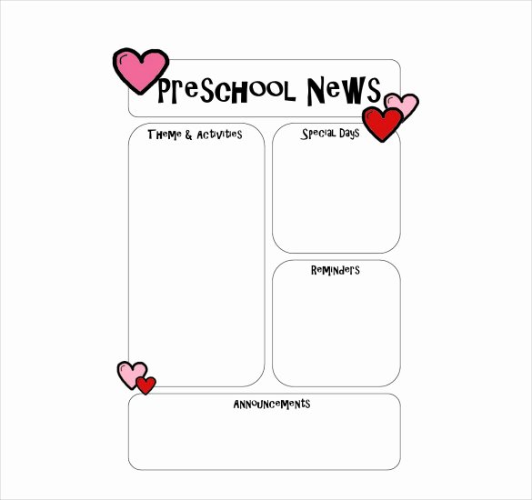 Preschool Newsletter Templates Free Fresh 10 Preschool Newsletter Templates – Free Sample Example