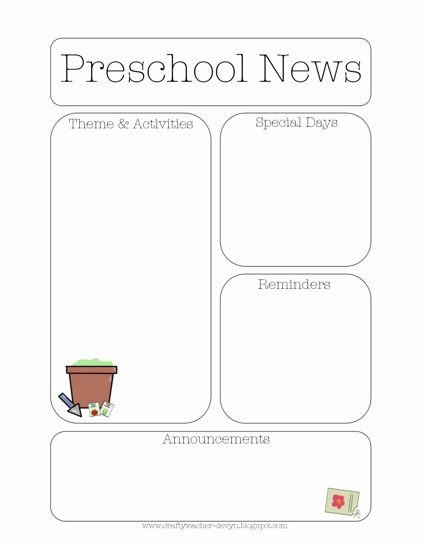 Preschool Newsletter Templates Free Fresh Newsletter Templates