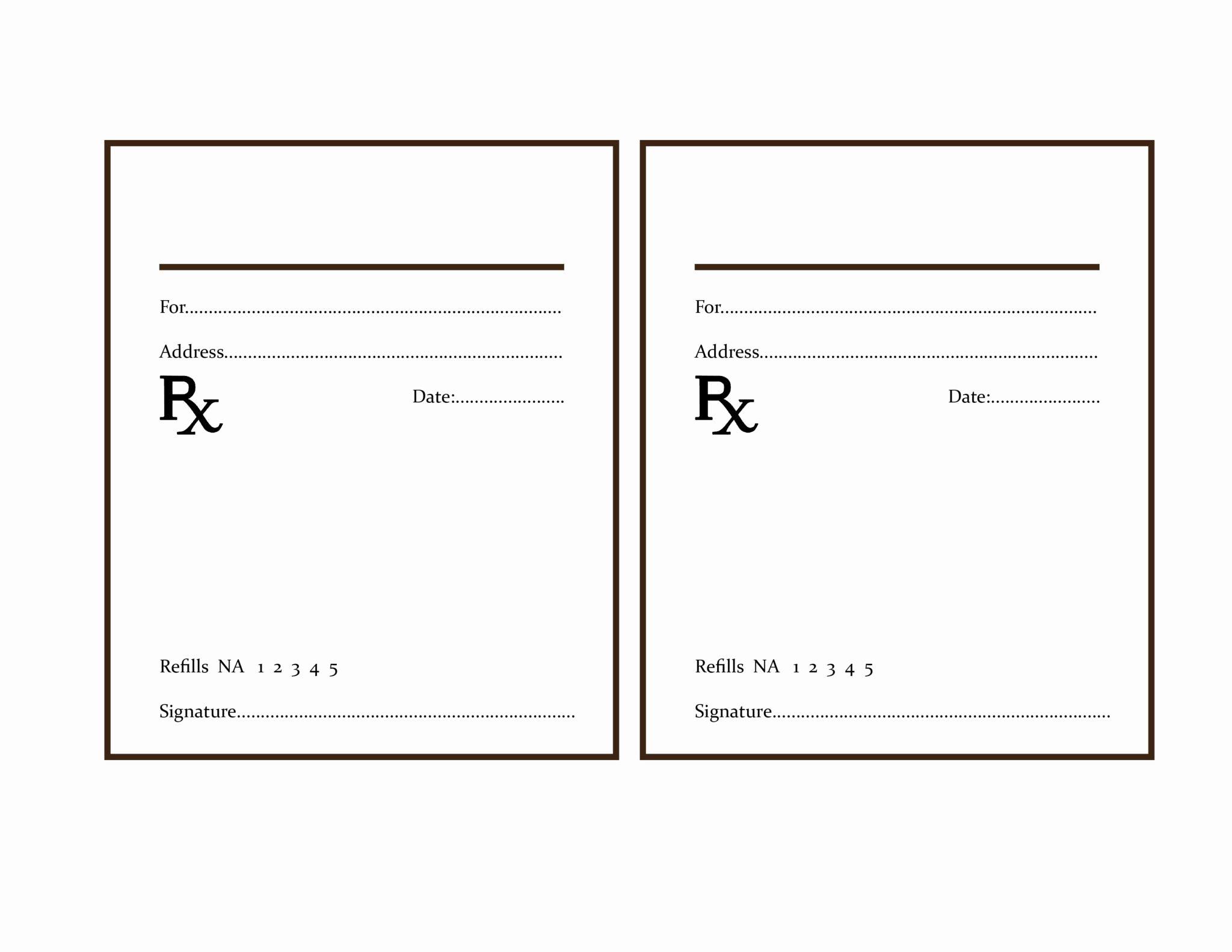 Prescription Template Microsoft Word Beautiful the Delight Of Paper