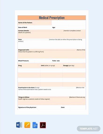 Prescription Template Microsoft Word Fresh Free Blank Prescription Template Download 73 Notes In