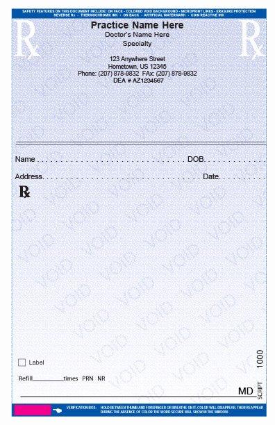 Prescription Template Microsoft Word Luxury Rxpads Home Prescription Pads