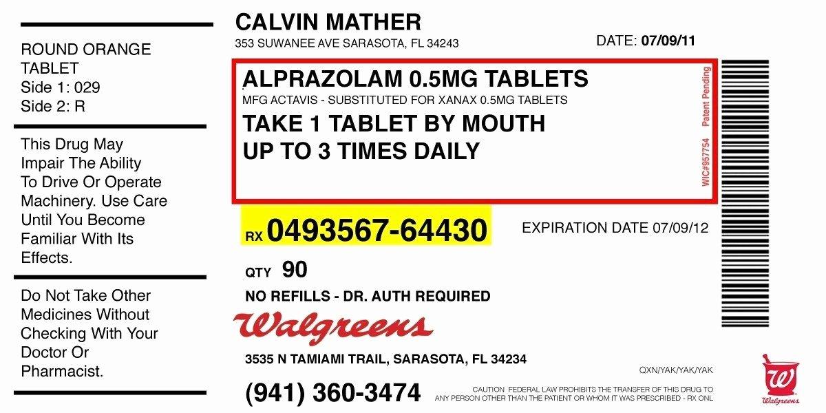 Prescription Template Microsoft Word Unique Prescription Label Template Microsoft Word