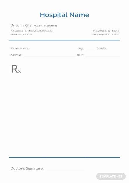 Prescription Template Microsoft Word Unique Urology Doctor's Prescription Template In Microsoft Word