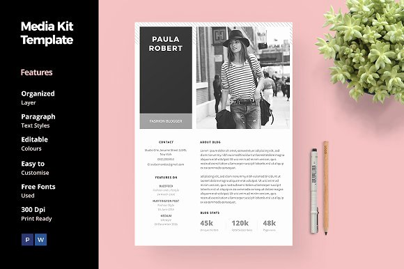 Press Kit Template Free Beautiful 20 Media Kit Templates to Pitch Your Blog to Brands and