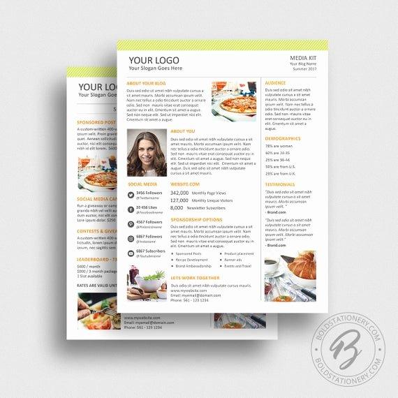 Press Kit Template Free Beautiful Blog Media Kit Template 02 Ad Rate Sheet Template Press