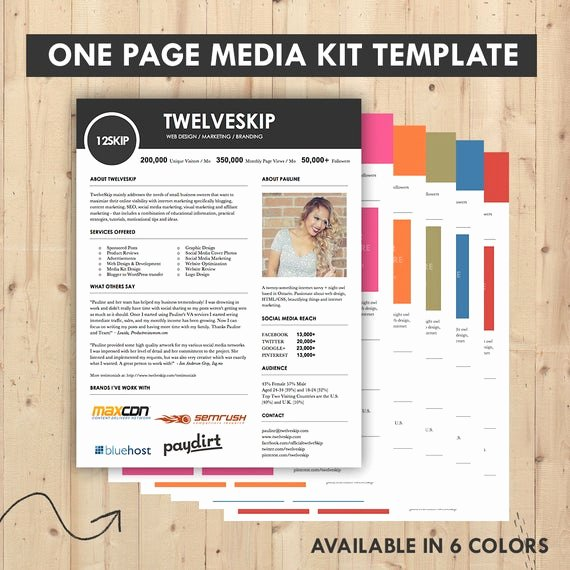 Press Kit Template Free Beautiful Media Kit Press Kit Templates Easy to Edit Clean & High