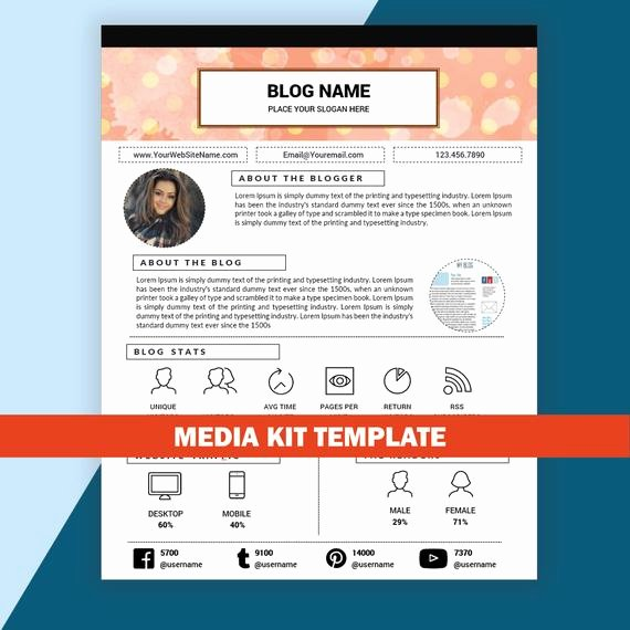 Press Kit Template Free Best Of Blog Media Kit Template Mixed Media Kit Instant by Resumesouk