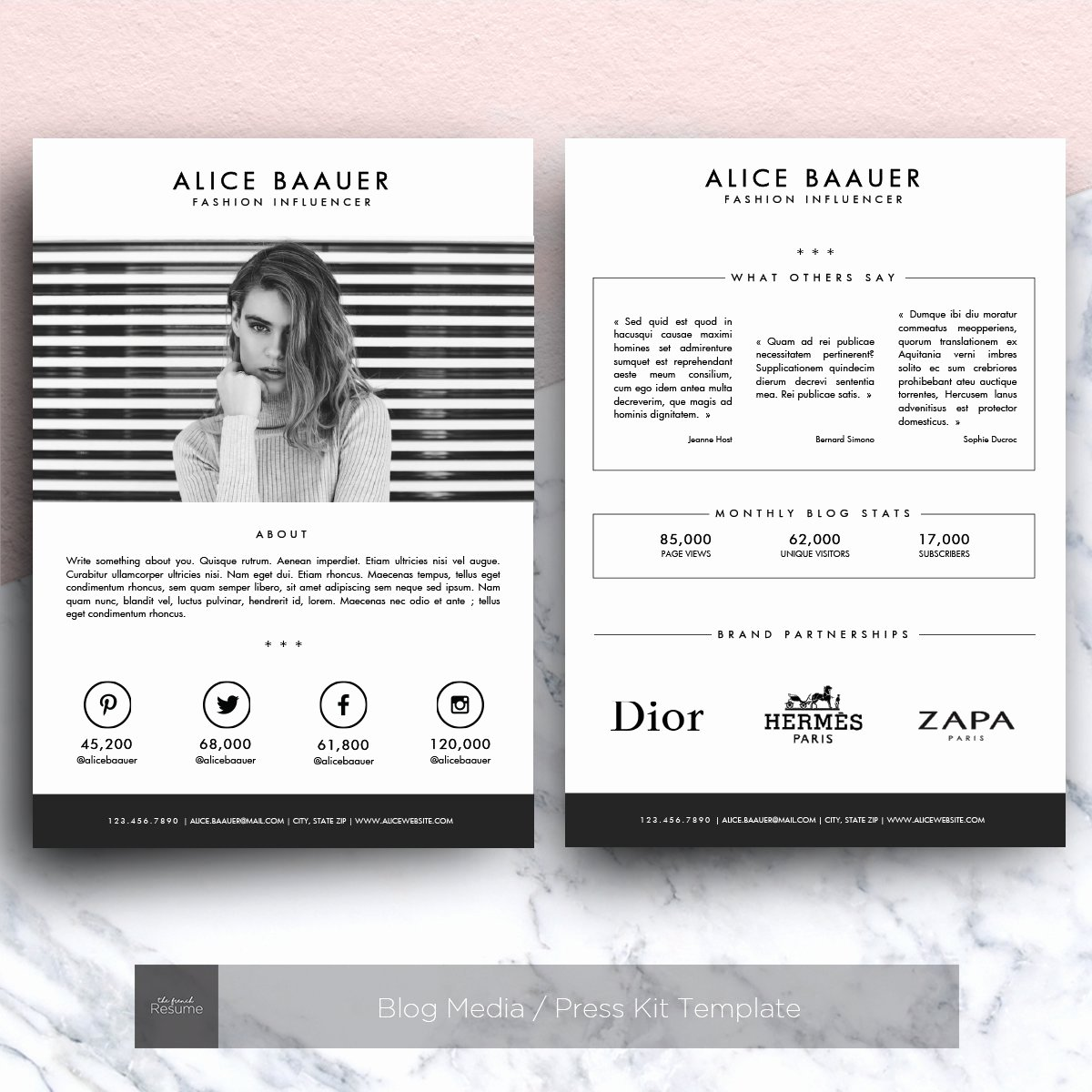 Press Kit Template Free Fresh Blog Media Press Kit Template Other Presentation