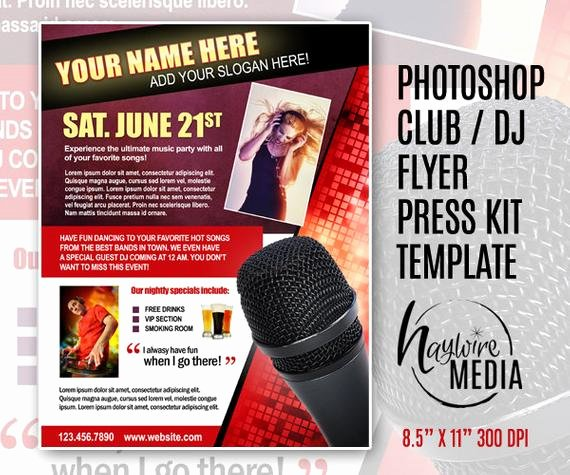Press Kit Template Free Fresh Items Similar to Entertainment Party Club or Press Kit