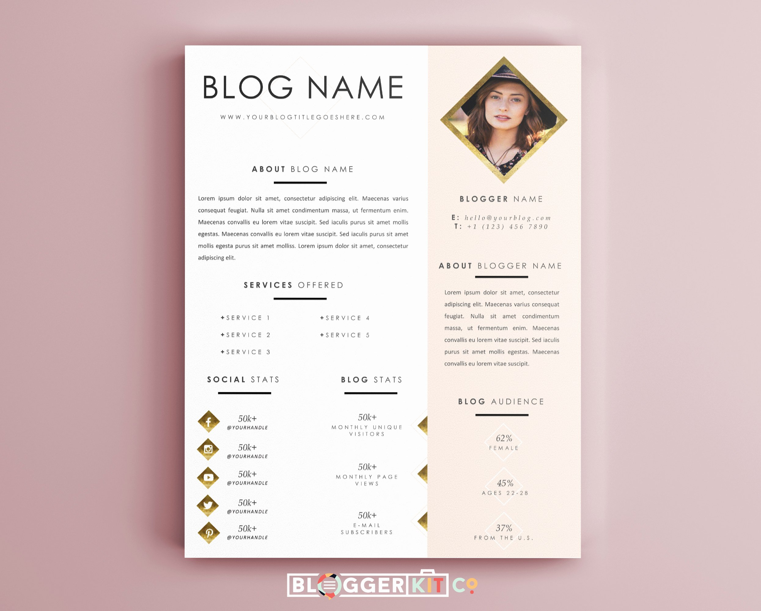Press Kit Template Free Lovely Life is Golden Media Kit Template
