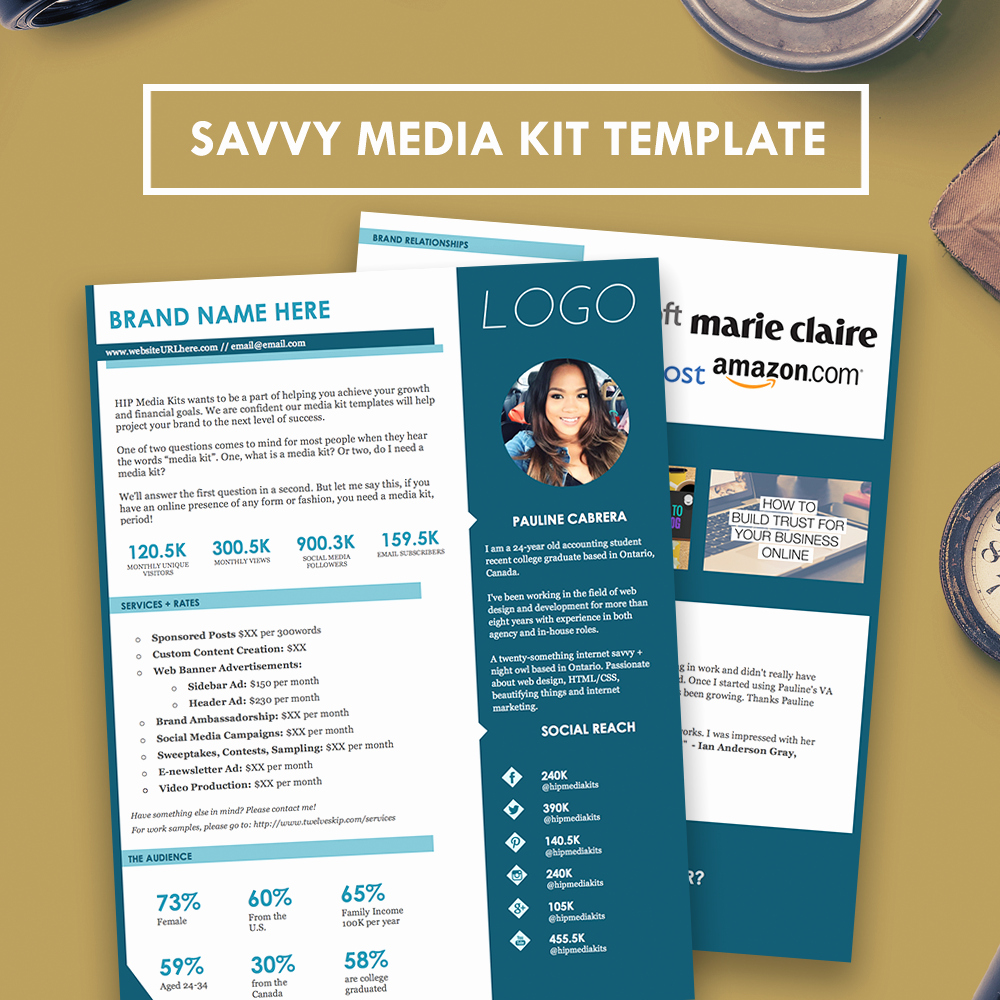 Press Kit Template Free Luxury Blogger Media Kit Press Kit Hipmediakits