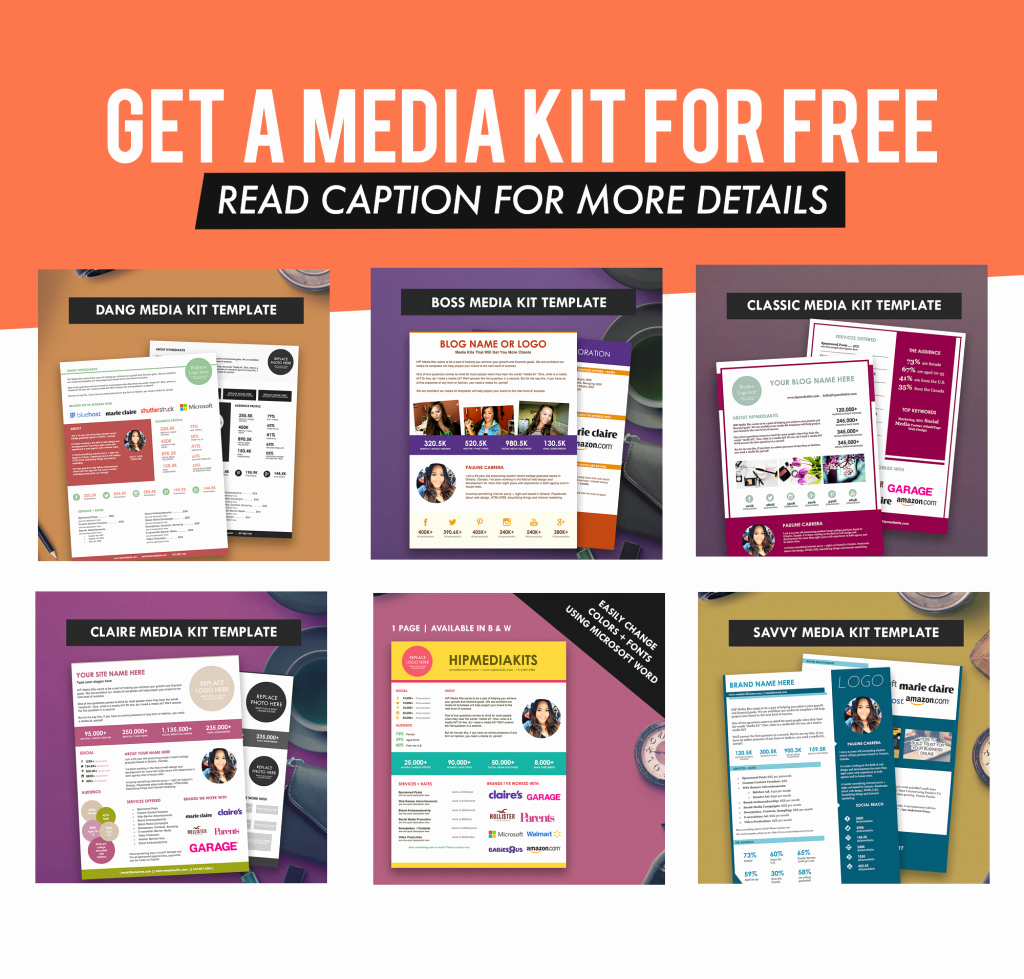 Press Kit Template Free Luxury Pauline Cabrera Author at Hip Media Kit Templates