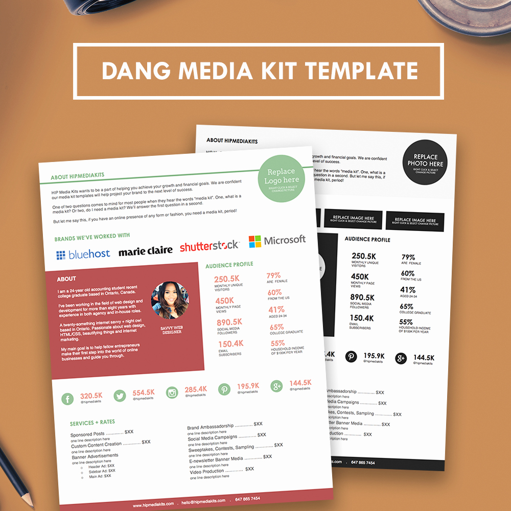 Press Kit Template Free Unique Professional Media Kit Press Kit Hipmediakits