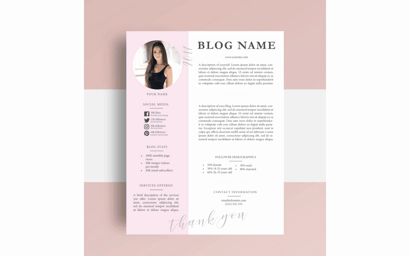 Press Kit Template Word Awesome Free Media Kit Template for Bloggers who Want to Work with