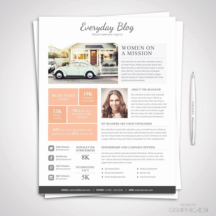 Press Kit Template Word Beautiful 32 Best Media Kit Design Examples Images On Pinterest