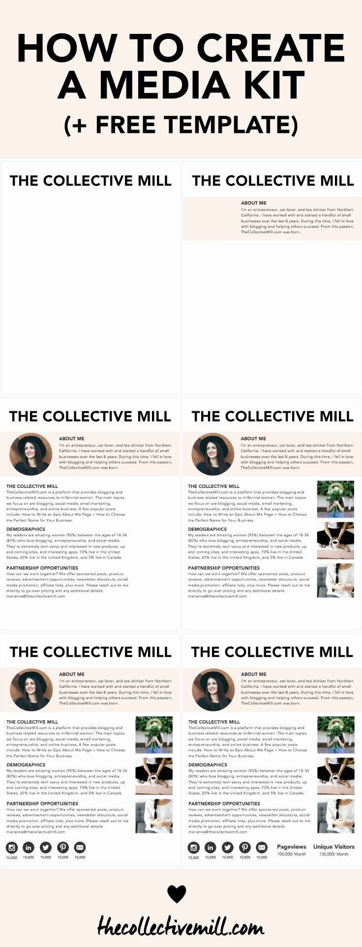 Press Kit Template Word Beautiful How to Create A Media Kit for Your Blog Free Template