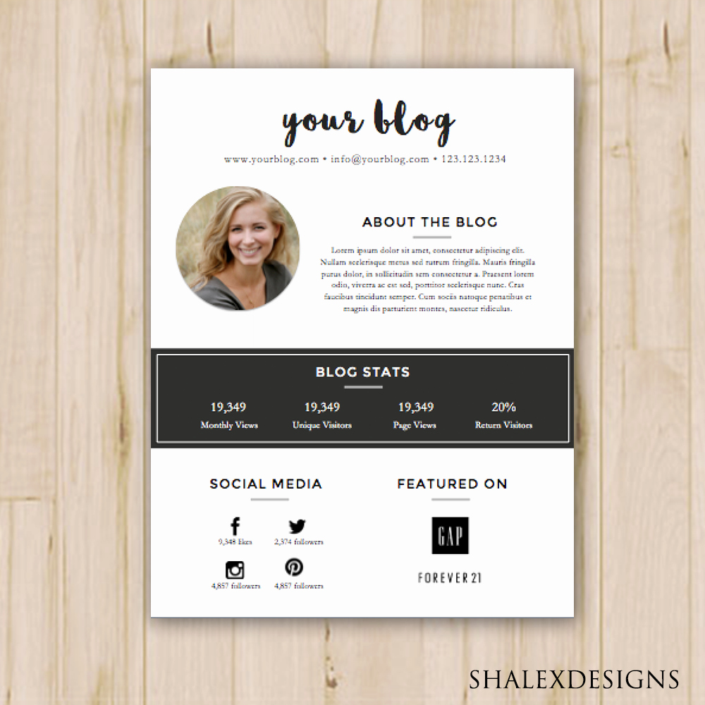 Press Kit Template Word Elegant 2 Pack Blogger Media Kit and Rate Kit Template Ms Word