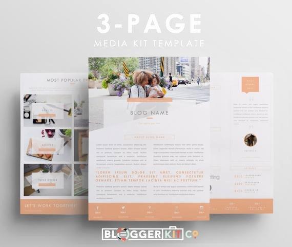 three page media kit template press kit