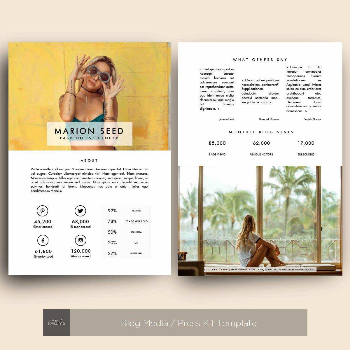 Press Kit Template Word Inspirational Blog Media Press Kit Template for Ms Word Model 03