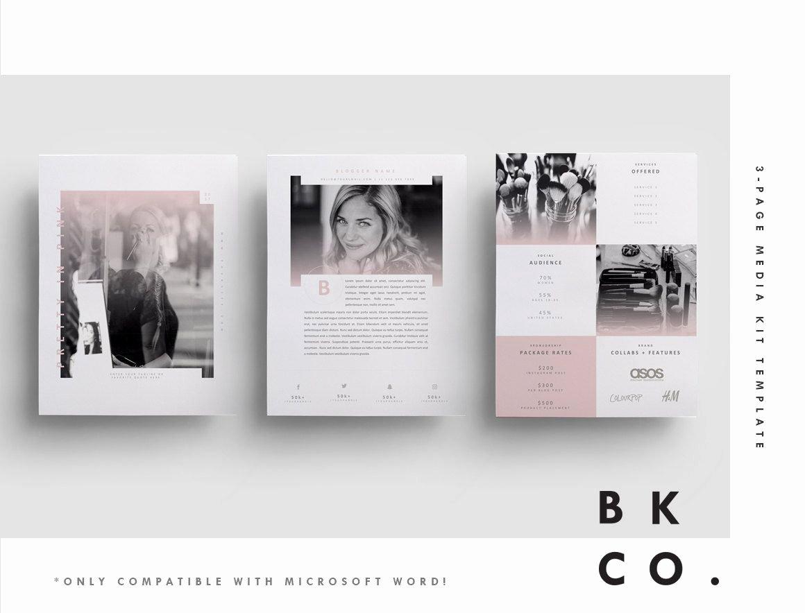 Press Kit Template Word Inspirational Influencer Media Kit Template