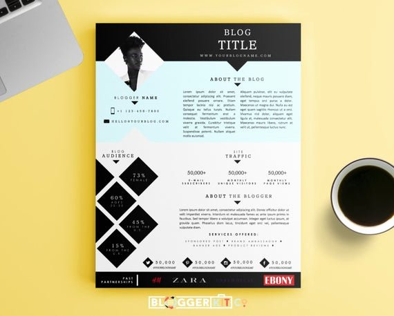 Press Kit Template Word Lovely E Page Media Kit Template Press Kit Template by Bloggerkitco
