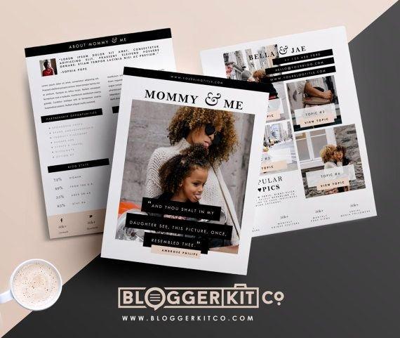 Press Kit Template Word Luxury Influencer Media Kit Template