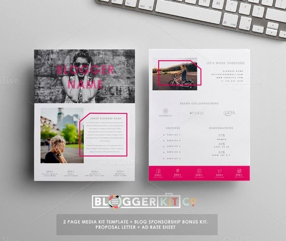 Press Kit Template Word Unique 4pg Media Kit Template Ms Word Creativework2…