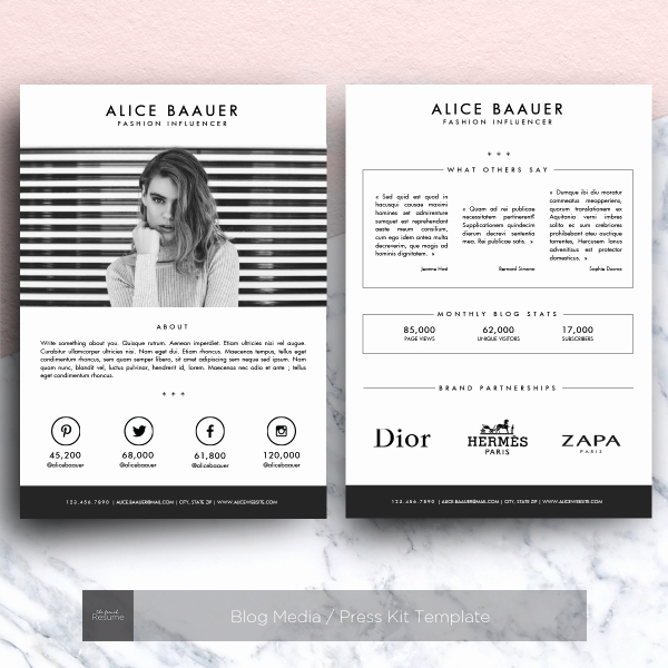 Press Kit Template Word Unique Blog Media Press Kit Template for Ms Word Web