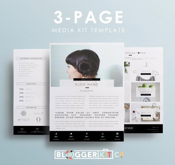 Press Kit Template Word Unique Three Page Media Kit Template Press Kit Template by
