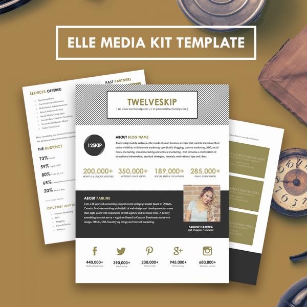 Press Kit Templates Free Beautiful Elle Media Kit Template Hip Media Kit Templates