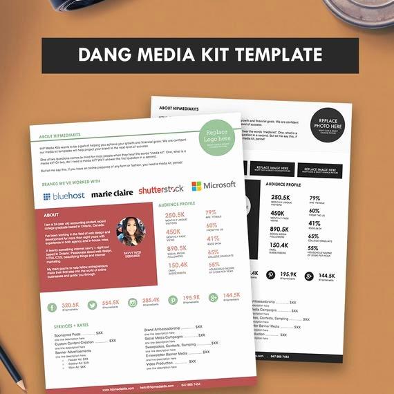 Press Kit Templates Free Beautiful Press Kit Media Kit Template Dang Blogger Media Kit Pitch