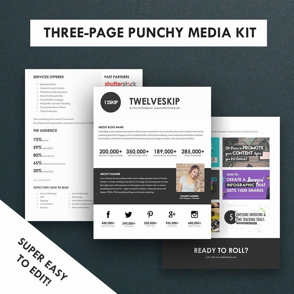 Press Kit Templates Free Fresh Minimalist Media Kit Template Press Kit 3 Pages