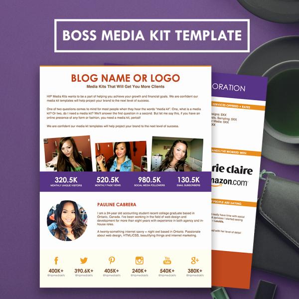 Press Kit Templates Free Unique Boss Media Kit Two Page Press Kit Template Hipmediakits