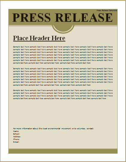 Press Release Template Free Best Of Press Release Template – Excel Word Templates