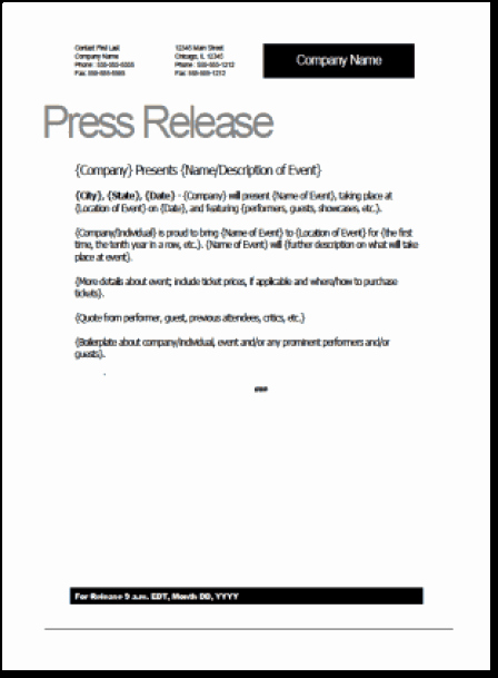 Press Release Template Free Best Of top 5 Resources to Get Free Press Release Templates Word