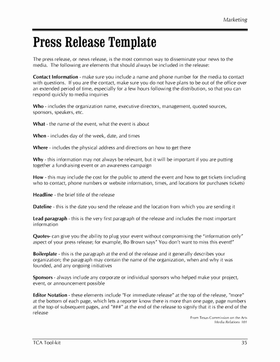 Press Release Template Free Lovely 47 Free Press Release format Templates Examples & Samples