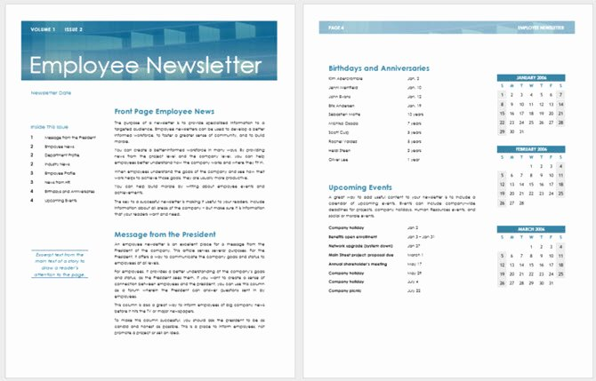 Print Newsletter Template Free Awesome 13 Free Newsletter Templates You Can Print or Email as Pdf