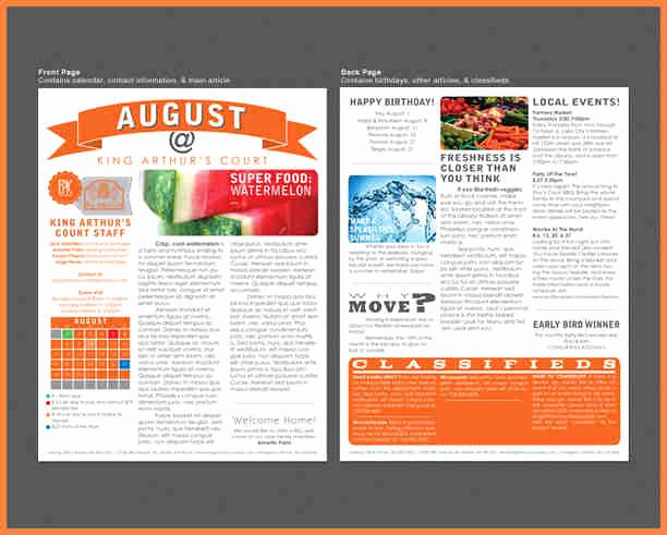 Print Newsletter Template Free Lovely Print Newsletter Templates – Emmamcintyrephotography