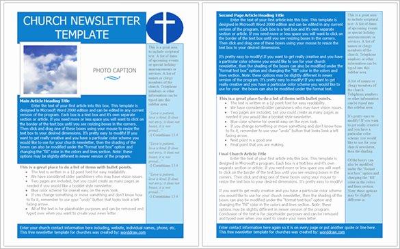 Print Newsletter Template Free New 4 Church Newsletter Templates