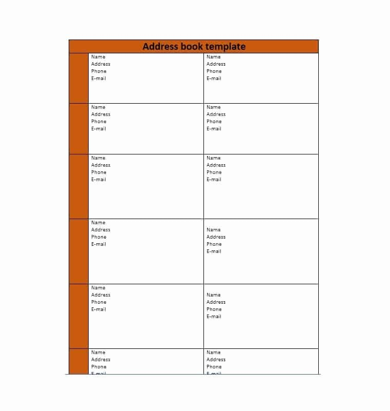 Printable Address Book Template Beautiful 40 Printable & Editable Address Book Templates [ Free]