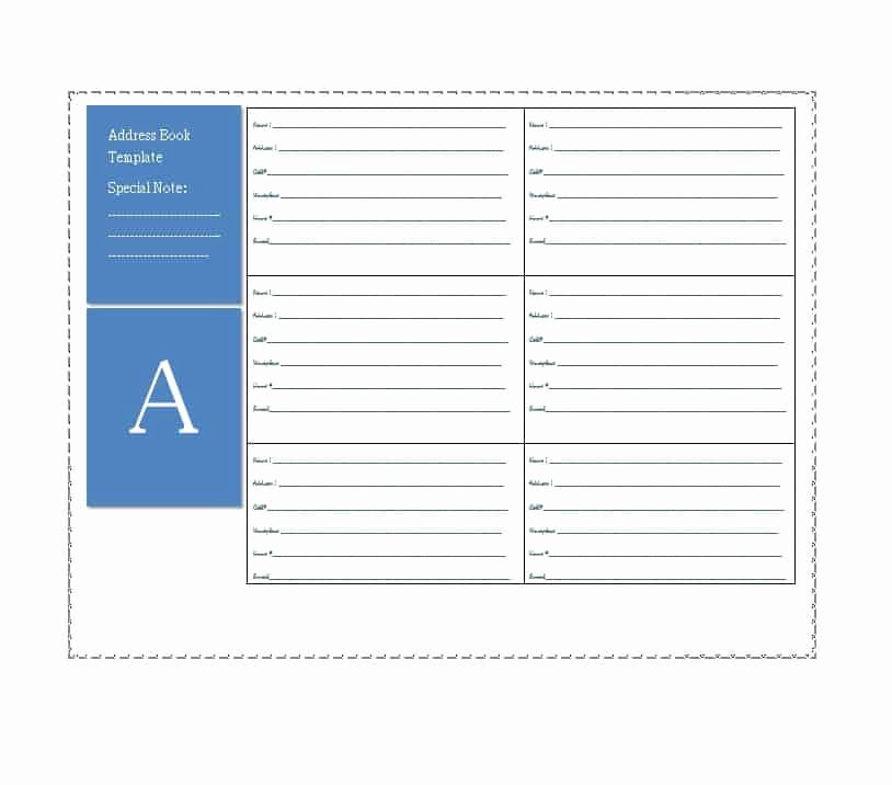 Printable Address Book Template Best Of 40 Printable & Editable Address Book Templates [ Free]