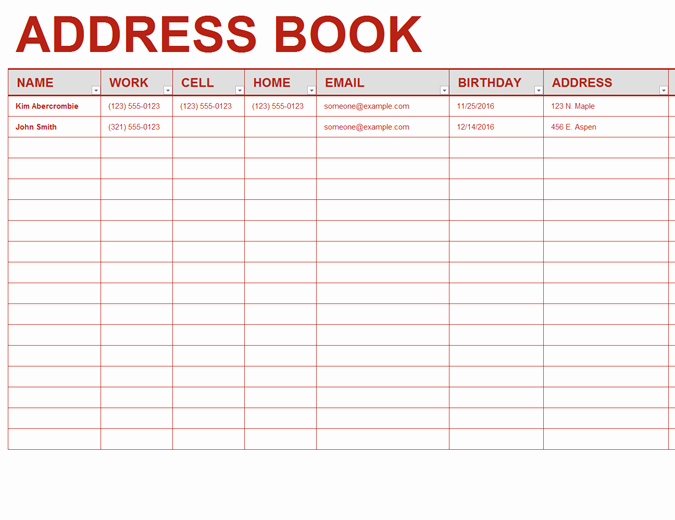 Printable Address Book Template Inspirational Personal Address Book