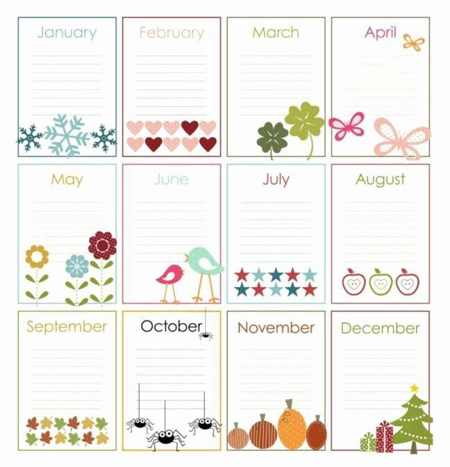 Printable Birthday Calendar Template Awesome 28 Best Printable Birthday Calendar Images On Pinterest