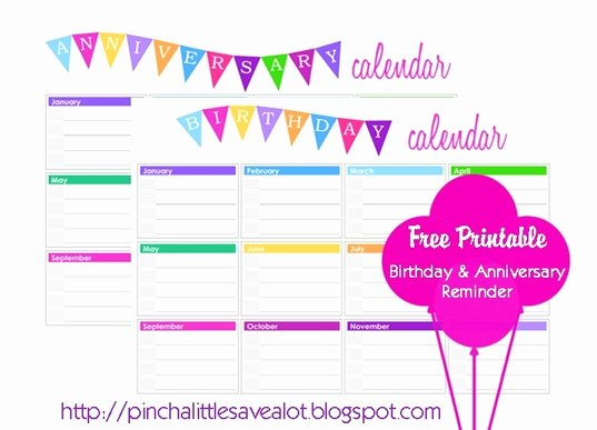 Printable Birthday Calendar Template Elegant Here
