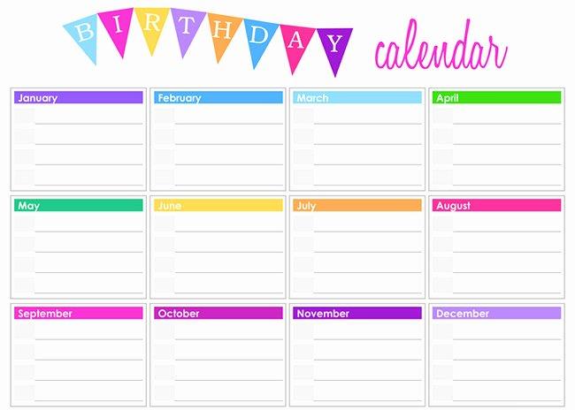 Printable Birthday Calendar Template Fresh 40 Free Premium Calendar Template & Designs 2015